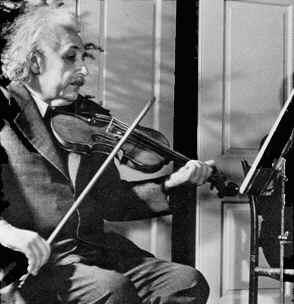 Einstein keman çalarken