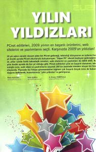 PCnet dergisinin Aralık 2010 sayısında 2009'un en iyileri